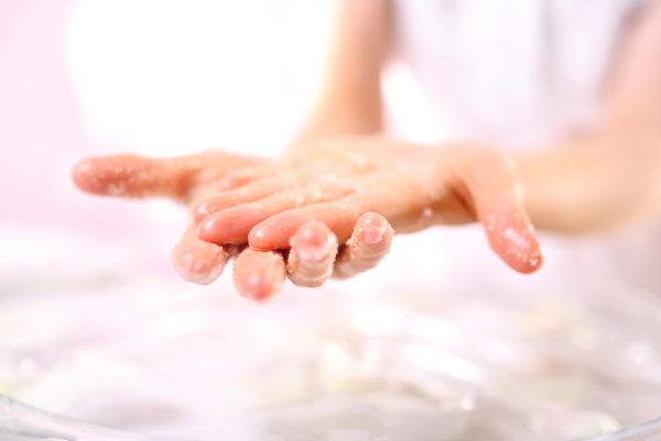 hand care, exfoliation